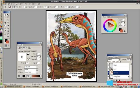 ภาพหน้าจอ Artweaver สำหรับ Windows 8