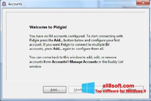 ภาพหน้าจอ Pidgin สำหรับ Windows 8