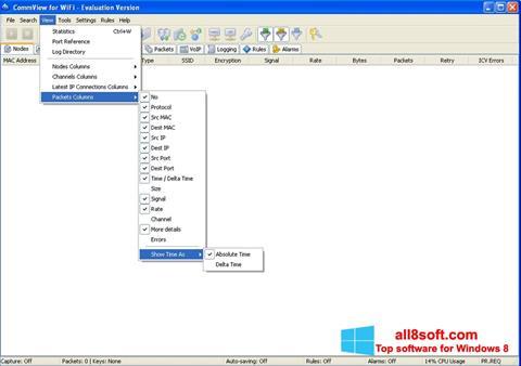 ภาพหน้าจอ CommView for WiFi สำหรับ Windows 8