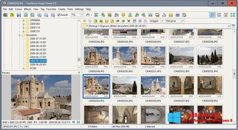 ภาพหน้าจอ FastStone Image Viewer สำหรับ Windows 8