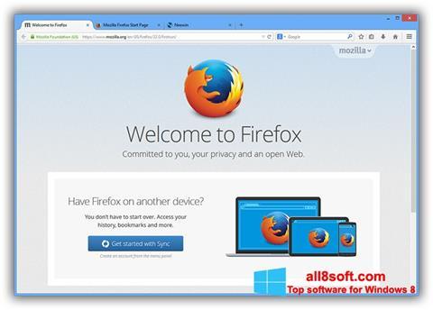 ภาพหน้าจอ Mozilla Firefox Offline Installer สำหรับ Windows 8