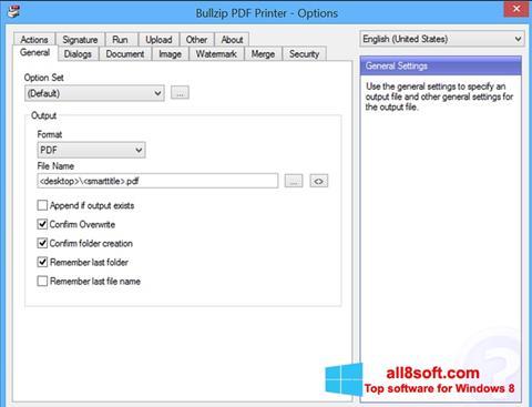 ภาพหน้าจอ BullZip PDF Printer สำหรับ Windows 8