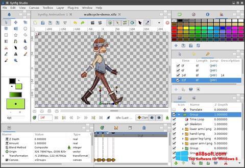 ภาพหน้าจอ Synfig Studio สำหรับ Windows 8