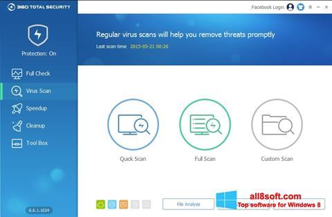 ภาพหน้าจอ 360 Total Security สำหรับ Windows 8