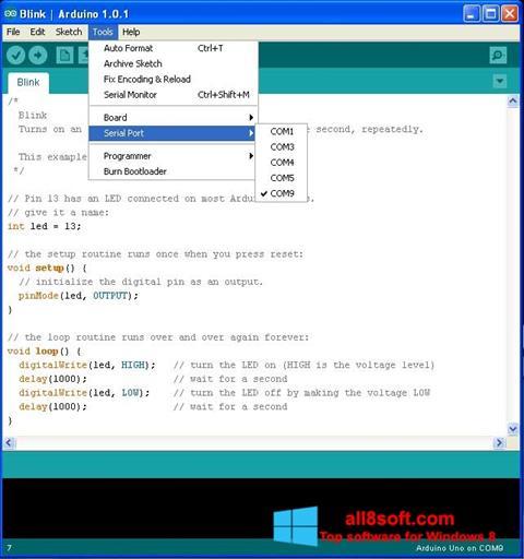 ภาพหน้าจอ Arduino สำหรับ Windows 8