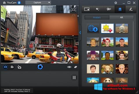 ภาพหน้าจอ CyberLink YouCam สำหรับ Windows 8