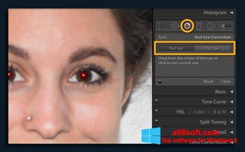 ภาพหน้าจอ Red Eye Remover สำหรับ Windows 8