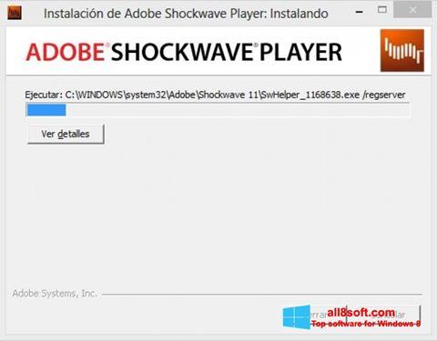 ภาพหน้าจอ Adobe Shockwave Player สำหรับ Windows 8