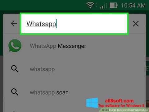 ภาพหน้าจอ WhatsApp สำหรับ Windows 8