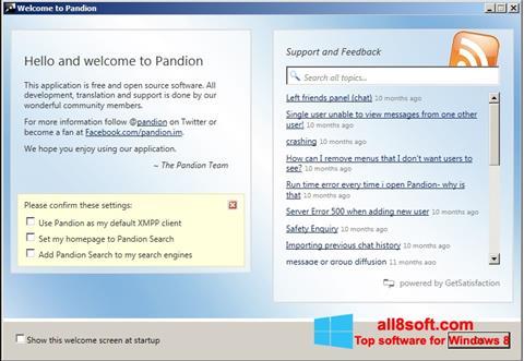 ภาพหน้าจอ Pandion สำหรับ Windows 8
