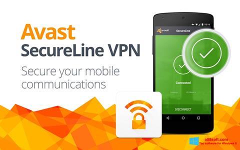 ภาพหน้าจอ Avast SecureLine VPN สำหรับ Windows 8