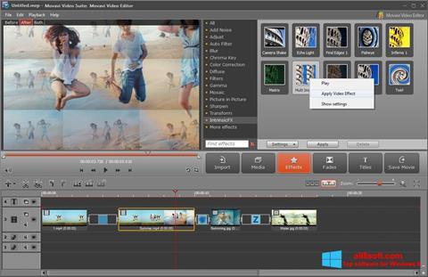 ภาพหน้าจอ Movavi Video Suite สำหรับ Windows 8