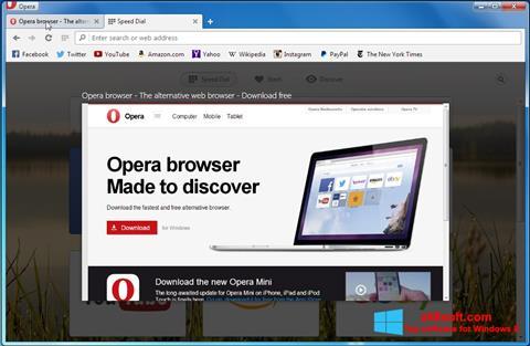 ภาพหน้าจอ Opera Developer สำหรับ Windows 8