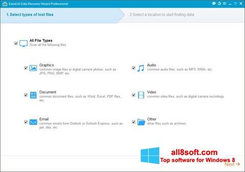 ภาพหน้าจอ EaseUS Data Recovery Wizard สำหรับ Windows 8