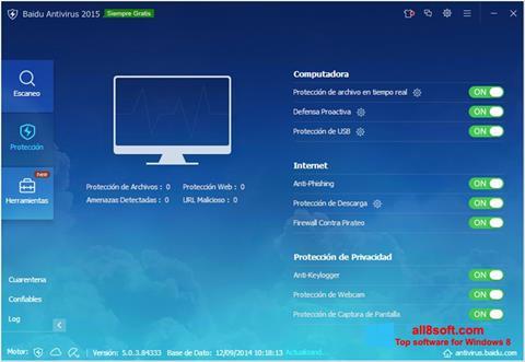 ภาพหน้าจอ Baidu Antivirus สำหรับ Windows 8