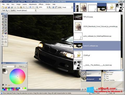 ภาพหน้าจอ Paint.NET สำหรับ Windows 8