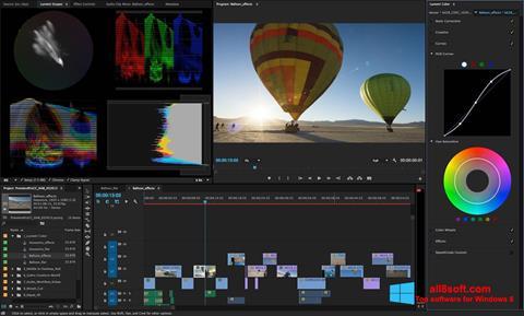 ภาพหน้าจอ Adobe Premiere Pro สำหรับ Windows 8