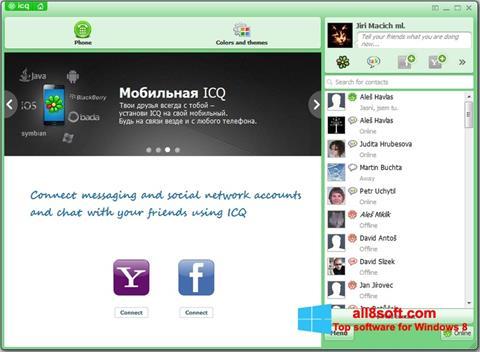 ภาพหน้าจอ ICQ สำหรับ Windows 8
