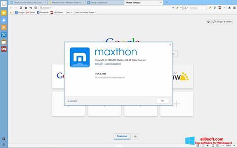 ภาพหน้าจอ Maxthon สำหรับ Windows 8