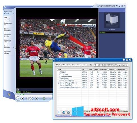 ภาพหน้าจอ SopCast สำหรับ Windows 8