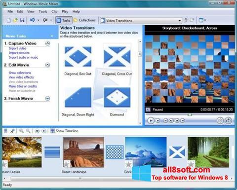 ภาพหน้าจอ Windows Movie Maker สำหรับ Windows 8