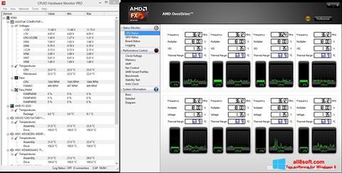 ภาพหน้าจอ AMD Overdrive สำหรับ Windows 8