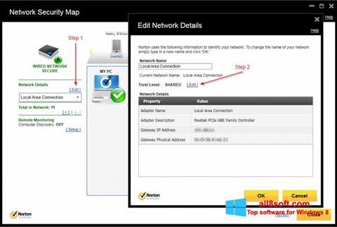 ภาพหน้าจอ Norton Internet Security สำหรับ Windows 8