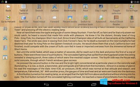 ภาพหน้าจอ Cool Reader สำหรับ Windows 8