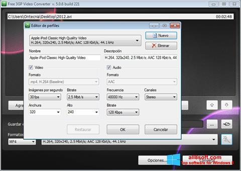 ภาพหน้าจอ Free MP4 Video Converter สำหรับ Windows 8