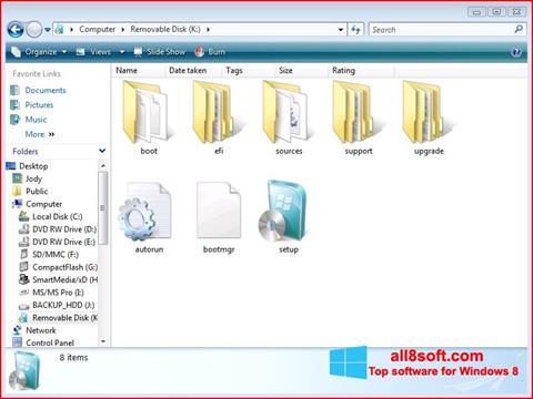 ภาพหน้าจอ Windows 7 USB DVD Download Tool สำหรับ Windows 8