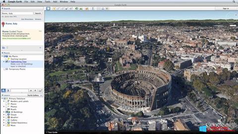 ภาพหน้าจอ Google Earth Pro สำหรับ Windows 8