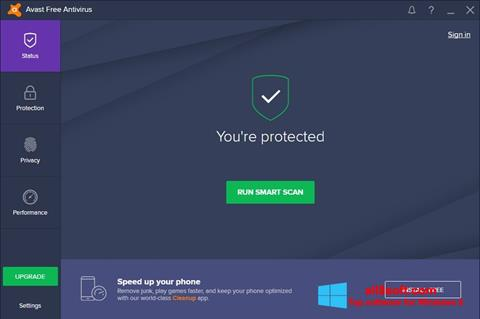 ภาพหน้าจอ Avast Free Antivirus สำหรับ Windows 8