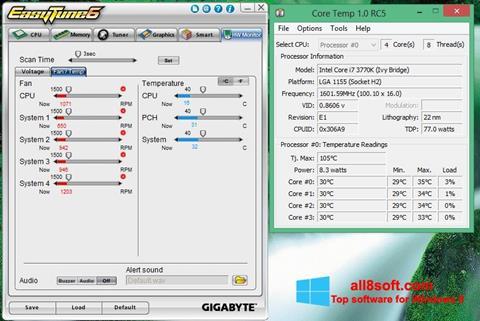 ภาพหน้าจอ EasyTune สำหรับ Windows 8