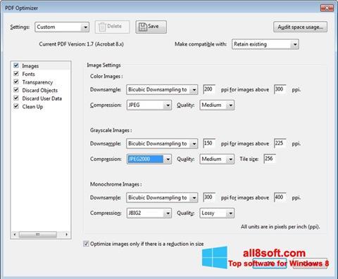 ภาพหน้าจอ Adobe Acrobat Pro DC สำหรับ Windows 8