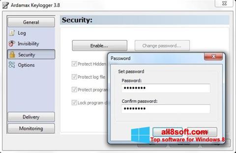 ภาพหน้าจอ Ardamax Keylogger สำหรับ Windows 8