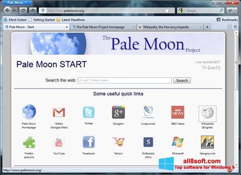 ภาพหน้าจอ Pale Moon สำหรับ Windows 8