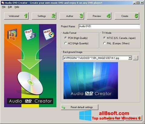 ภาพหน้าจอ Audio DVD Creator สำหรับ Windows 8