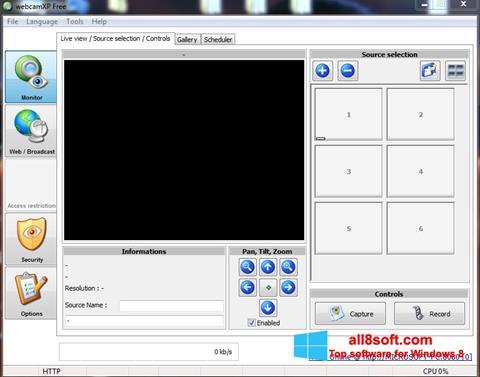 ภาพหน้าจอ webcamXP สำหรับ Windows 8