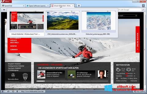ภาพหน้าจอ Opera สำหรับ Windows 8