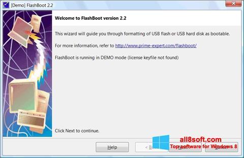 ภาพหน้าจอ FlashBoot สำหรับ Windows 8