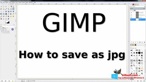 ภาพหน้าจอ GIMP สำหรับ Windows 8