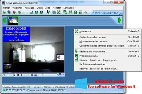 ภาพหน้าจอ Active WebCam สำหรับ Windows 8
