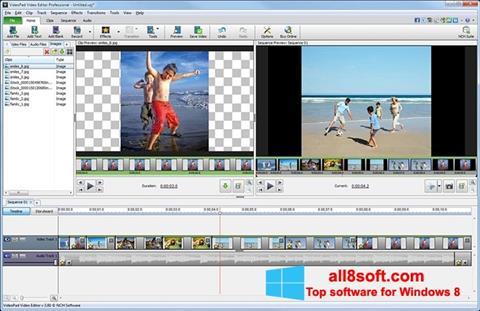 ภาพหน้าจอ VideoPad Video Editor สำหรับ Windows 8