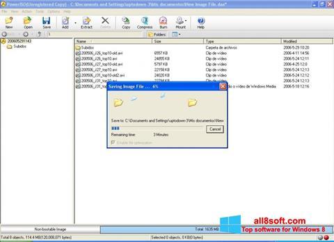ภาพหน้าจอ PowerISO สำหรับ Windows 8