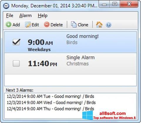 ภาพหน้าจอ Free Alarm Clock สำหรับ Windows 8