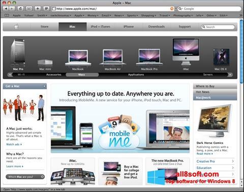 ภาพหน้าจอ Safari สำหรับ Windows 8