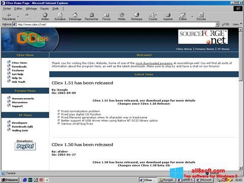 ภาพหน้าจอ CDex สำหรับ Windows 8