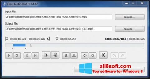 ภาพหน้าจอ Free Audio Dub สำหรับ Windows 8