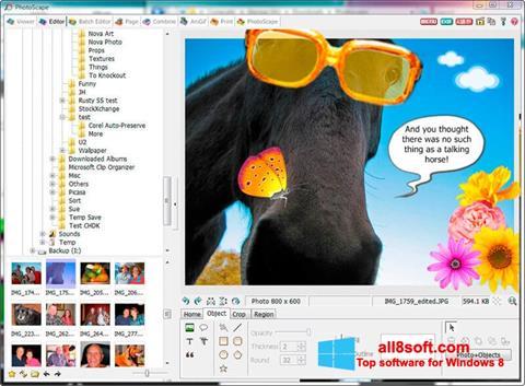 ภาพหน้าจอ PhotoScape สำหรับ Windows 8
