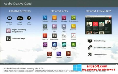 ภาพหน้าจอ Adobe Creative Cloud สำหรับ Windows 8